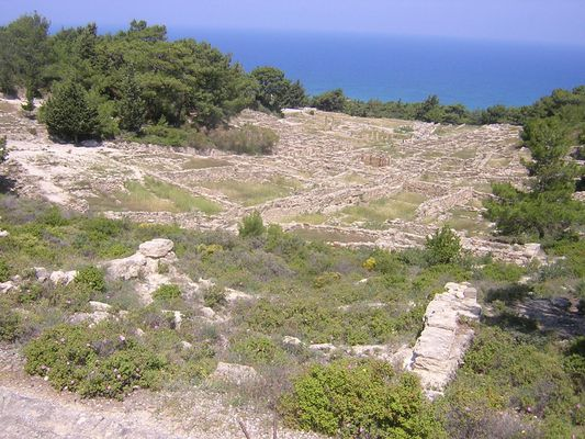 archeologic site in Rhodes Island