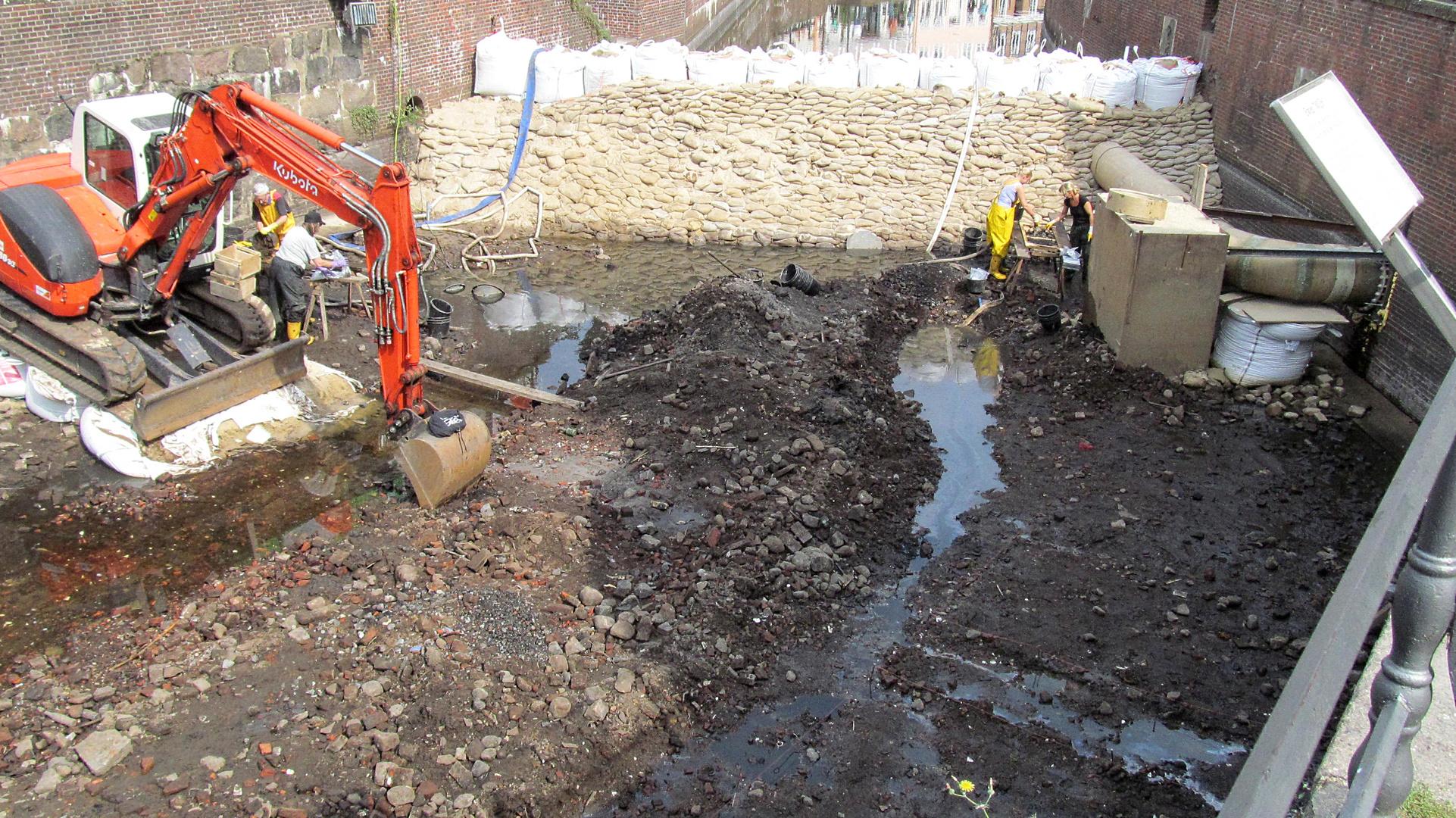 Archeologische Ausgraben Burggraben Stade
