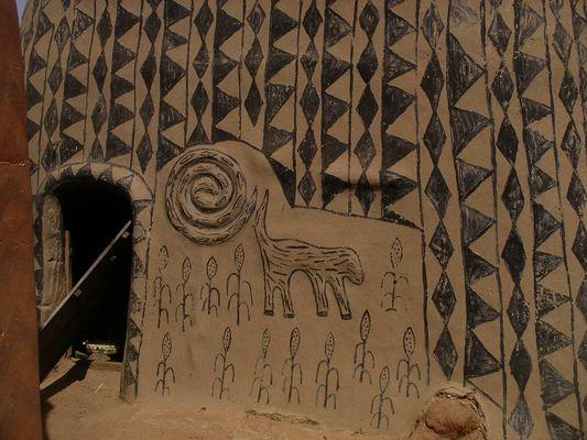 architecture traditionnelle - le palais royal de Tiebele
