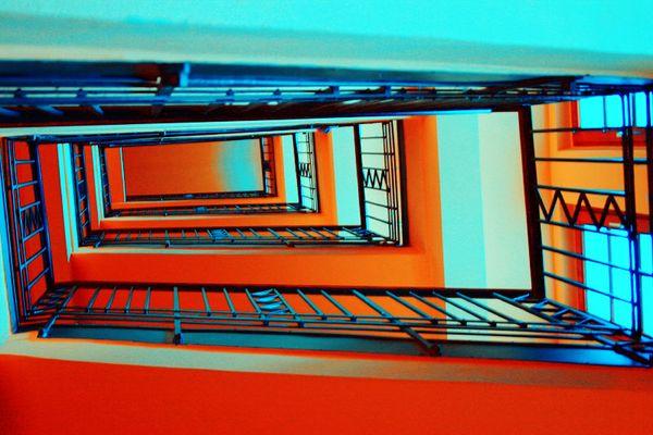 architektonisches Farbenspiel