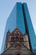Architektur-Kontraste am Copley Square (Boston)
