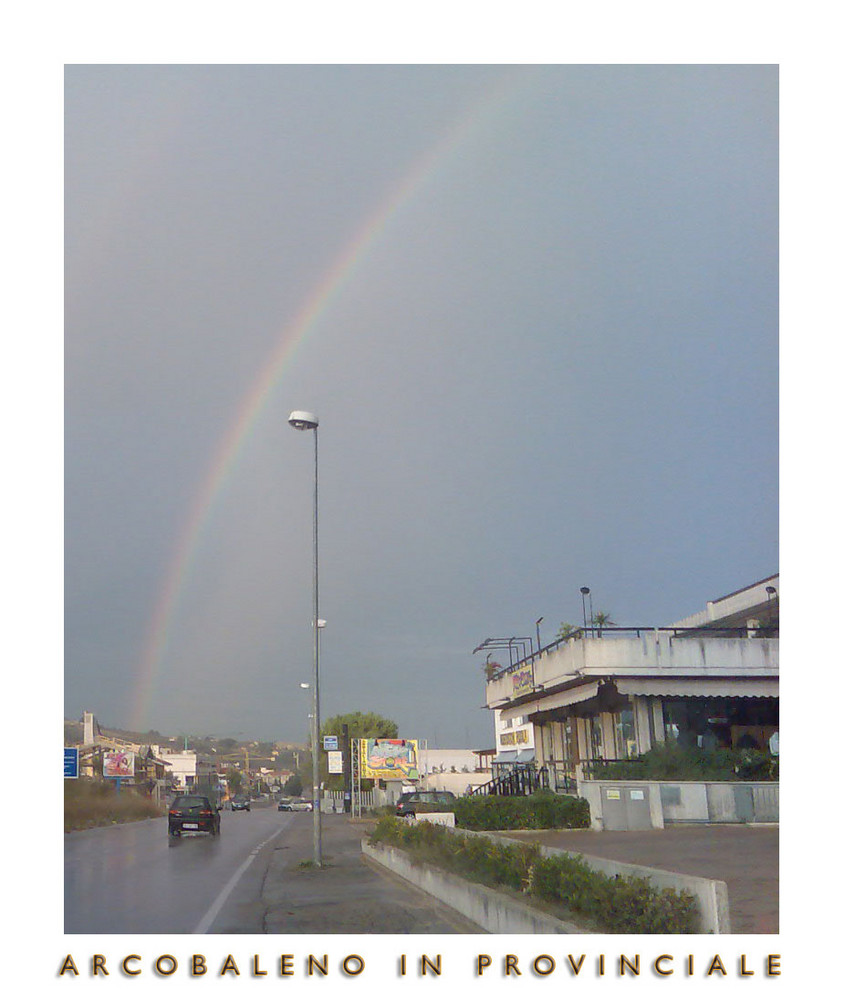 Arcobaleno in provinciale