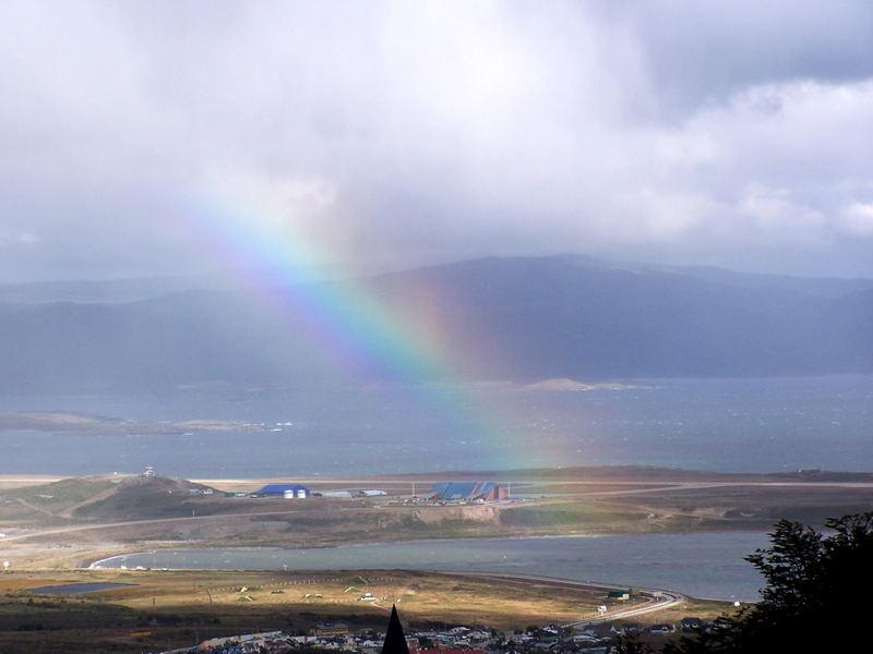 Arcoíris en Ushuaia
