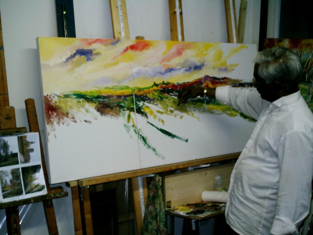 """Ari Kandege der """"Ruhrgebietsmaler"""" in Vorbereitung auf die Kulturhauptstadt 2010"""
