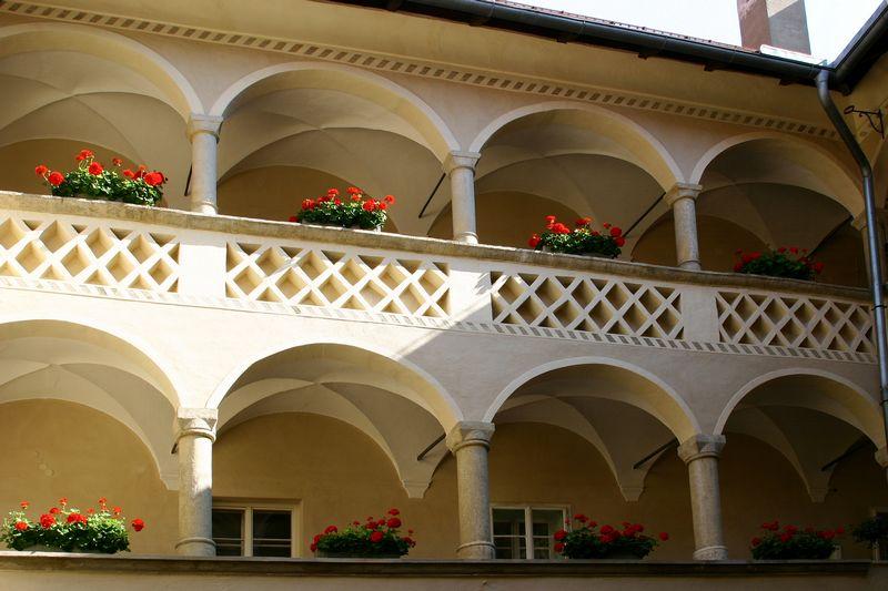 Arkade im Alten Rathaus in Klagenfurt