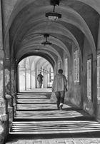 Arkade in Prag sw
