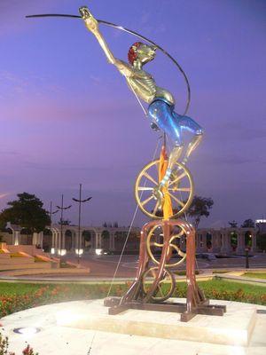 Arlequin en Parque Lineal en Guayaquil. ECUADOR