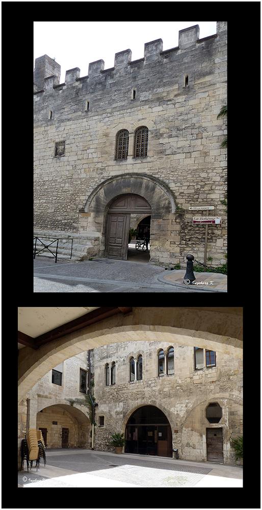 Arles - Forum Romanum - Restaurant im Innenhof