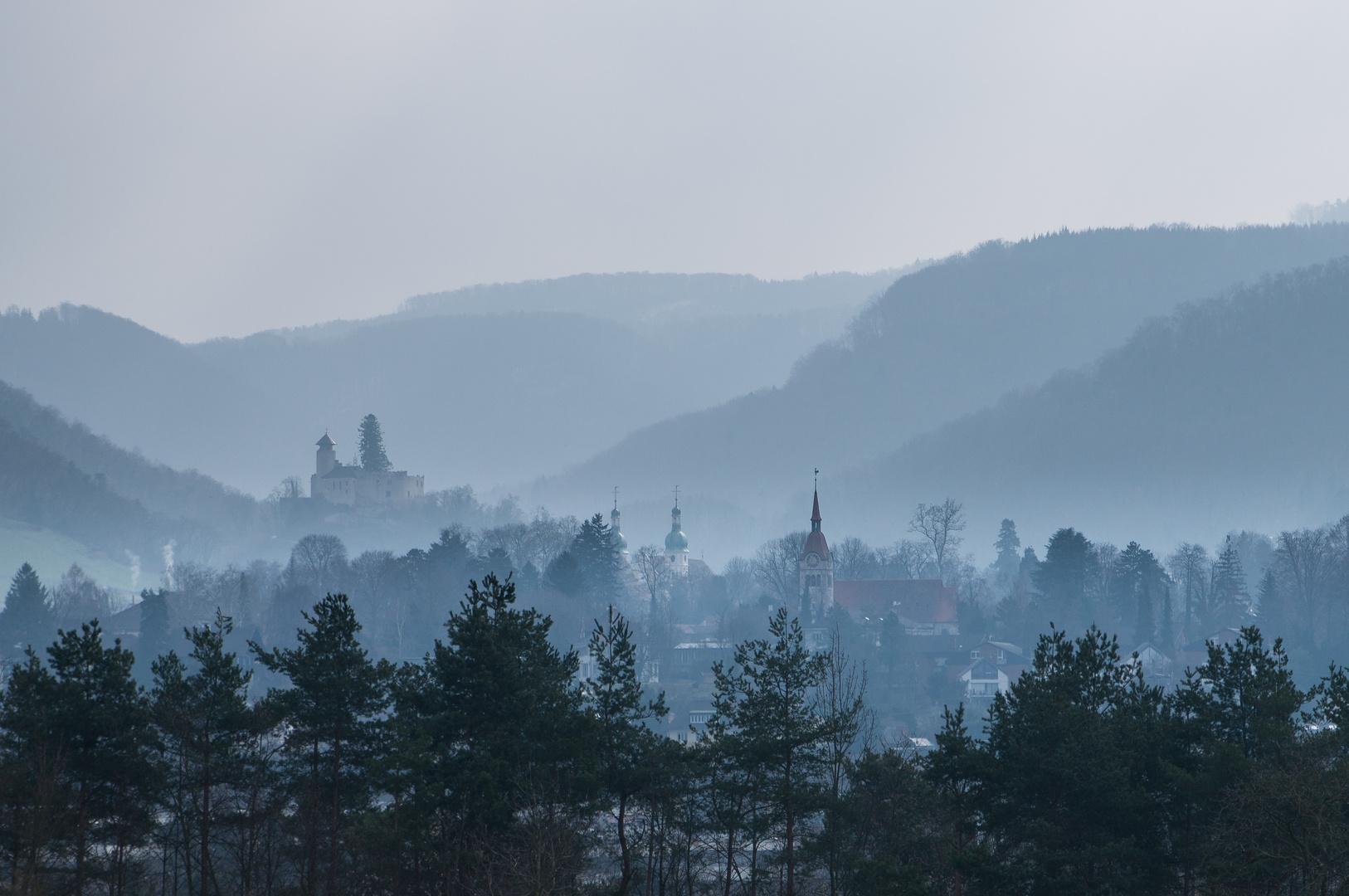 Arlesheim im Nebel