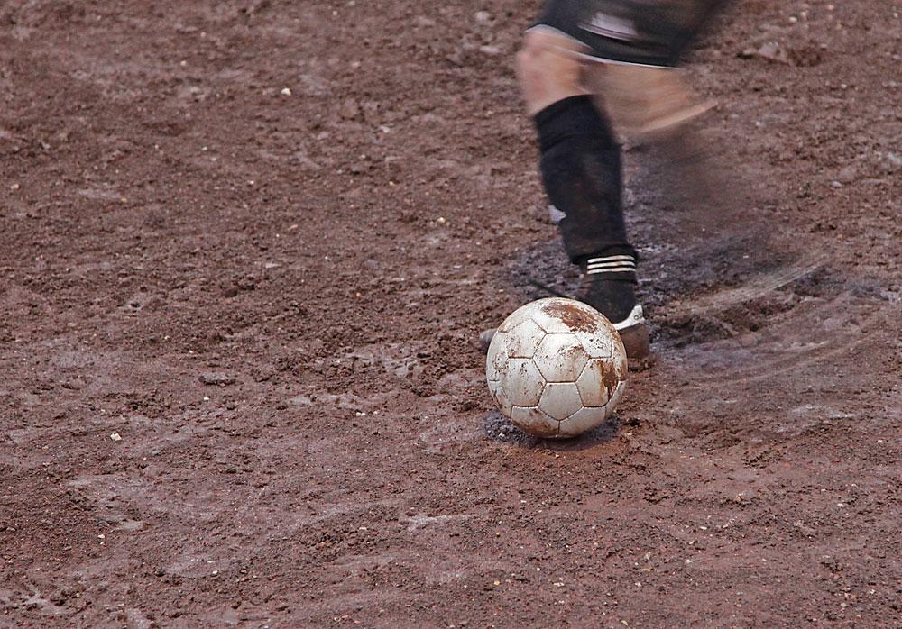 Armer Ball, er weiss was gleich kommt.