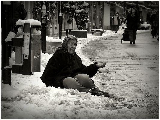 Armut in Eiskälte