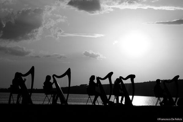 Arpe al tramonto