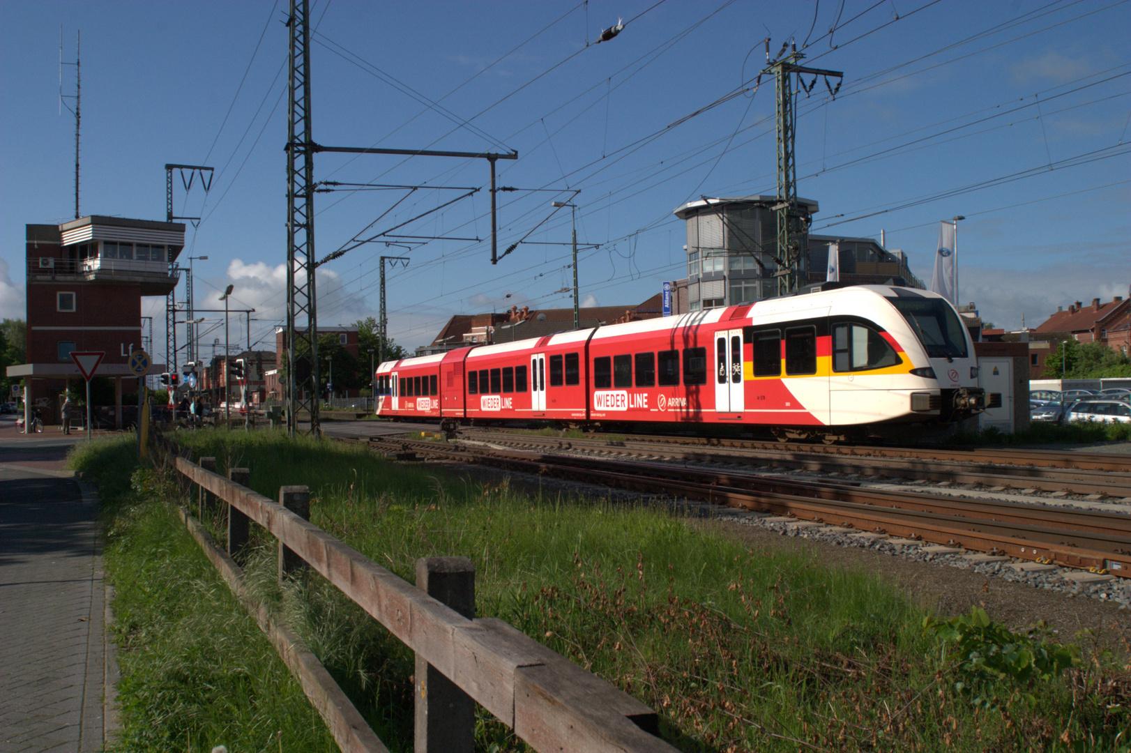 Arriva Wiederline GTW Spurt in Leer 13-05-2014