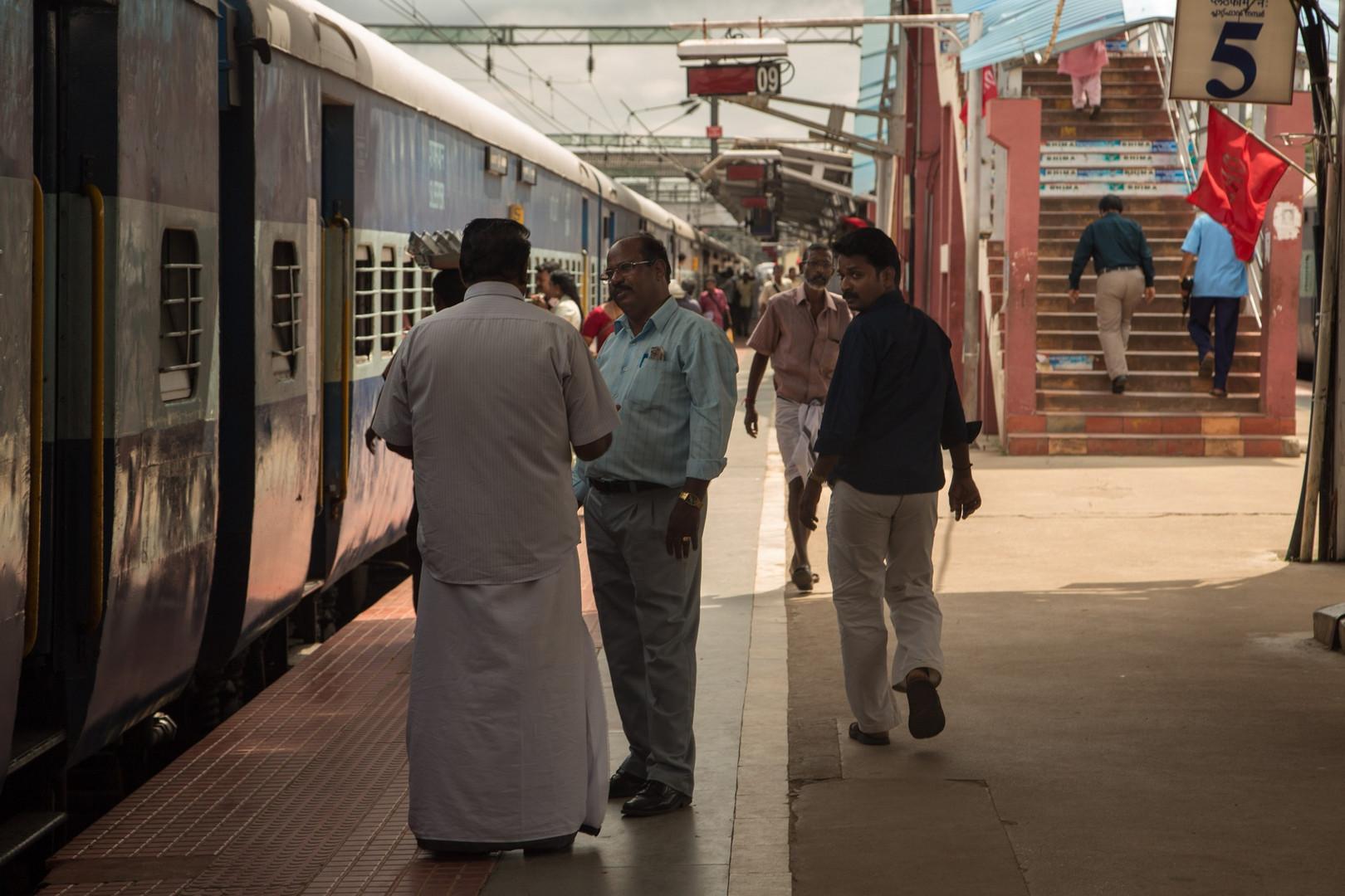 Arrivée à la gare de Kollam