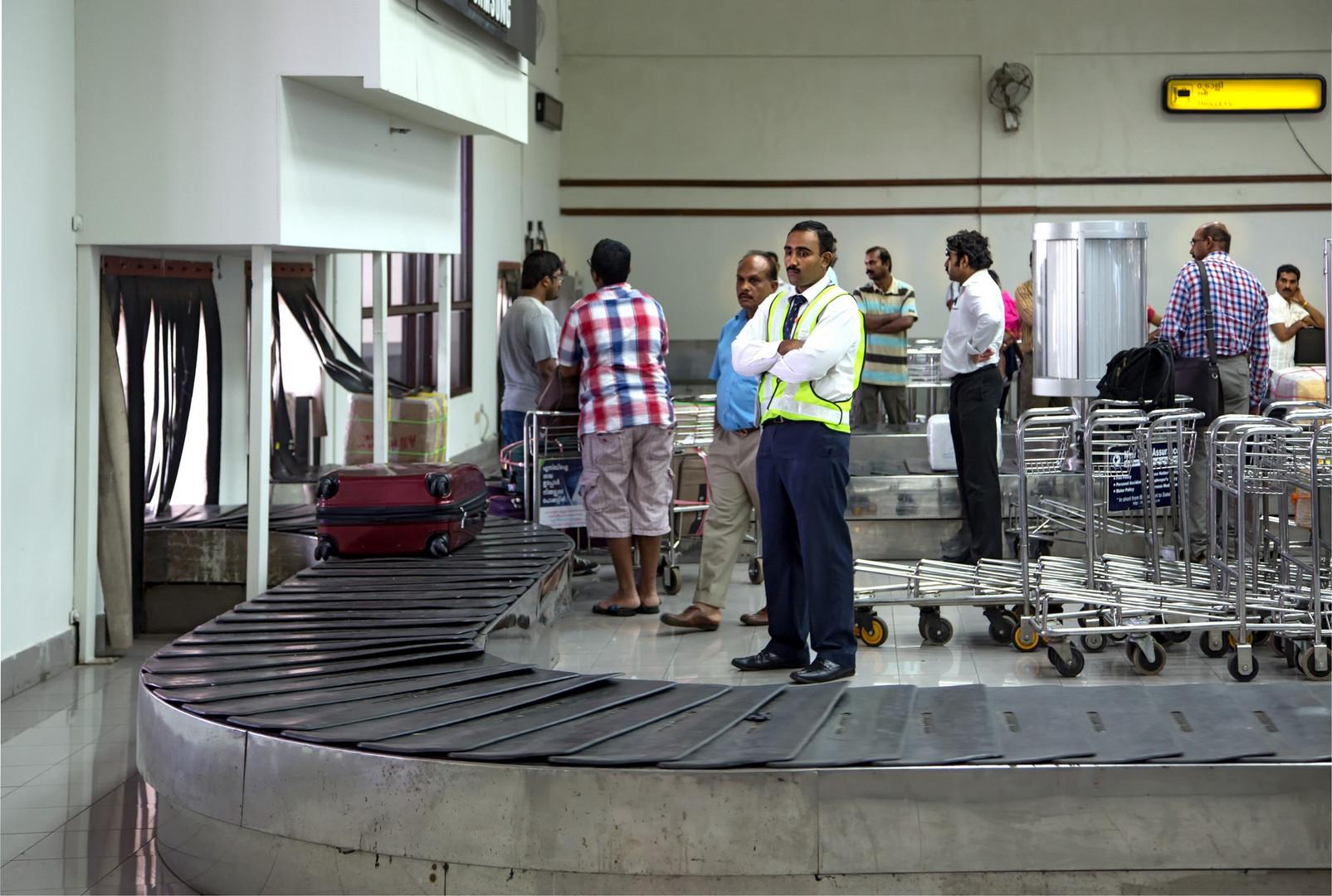 Arrivée à l'aéroport de Cochin