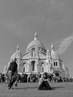 Arrivée a Montmartre