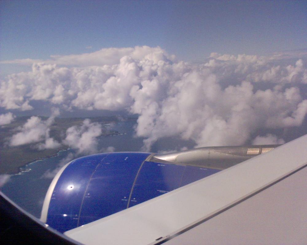 arrivée du ciel en Guadeloupe