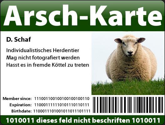 Arsch-Karte