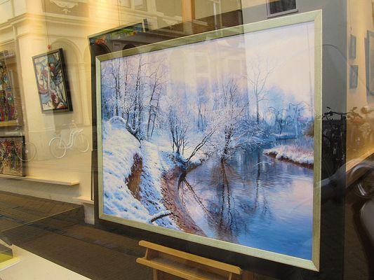 Art by Ahmad Haraji in the window gallery