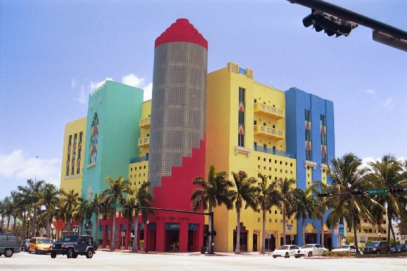 Art-Deco-Architektur in Miami-Beach