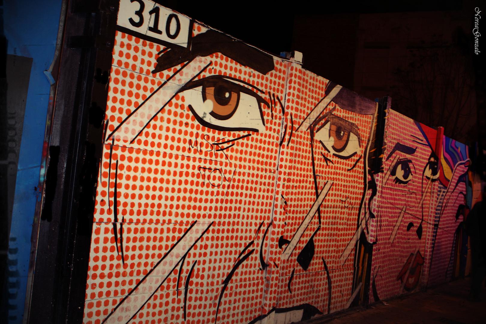 arte en el muro ...