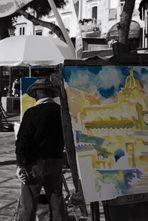 ...artisti di strada a Positano