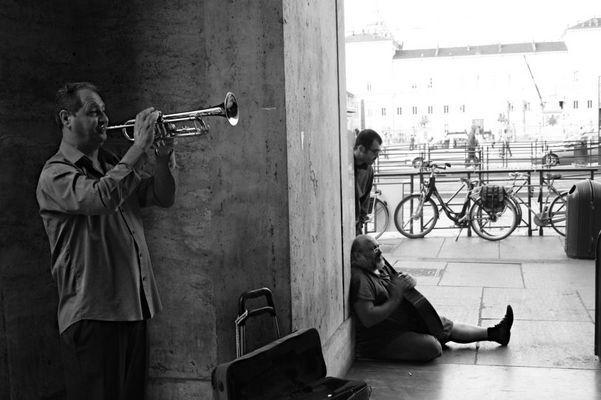 Artisti di strada a Torino.