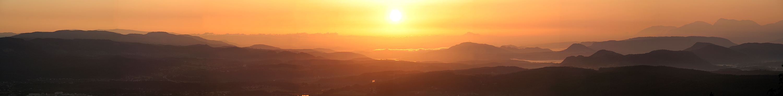 As wide as sunrise...