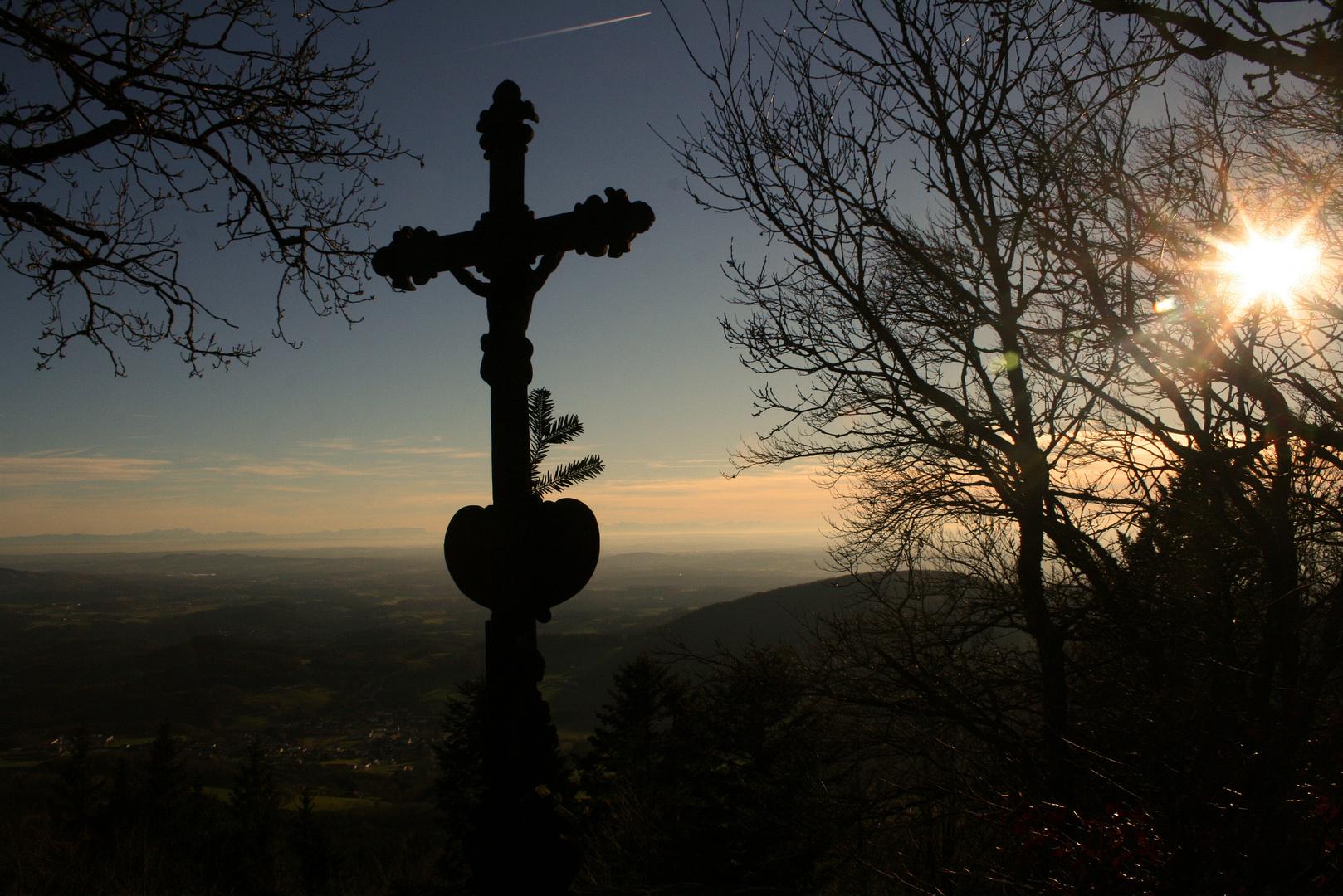 Aschenstein kurz vor Sonnenuntergang