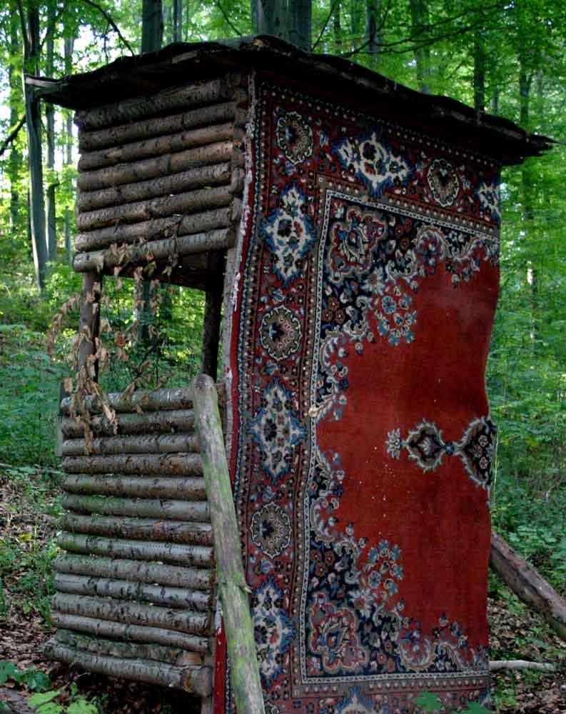 asiatischer Schießstand im Rhönwald