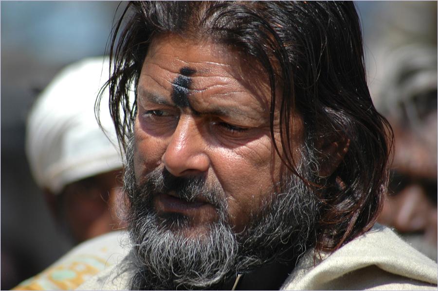Asket am heiligen Ganges
