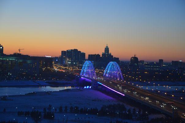Astana bei Nacht