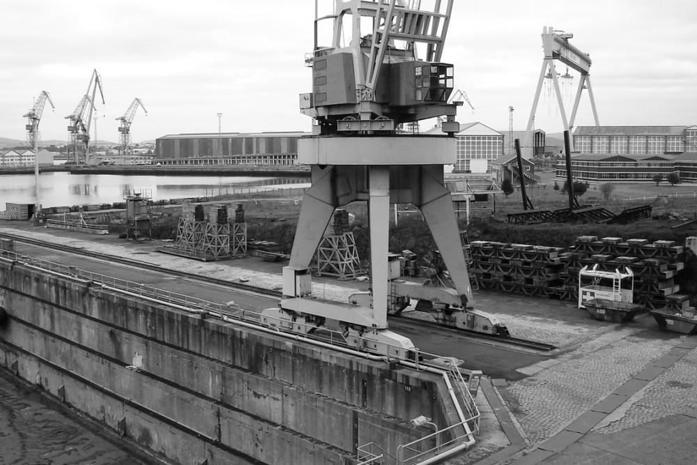 Astano shipyard; Galicia - Northern Spain.