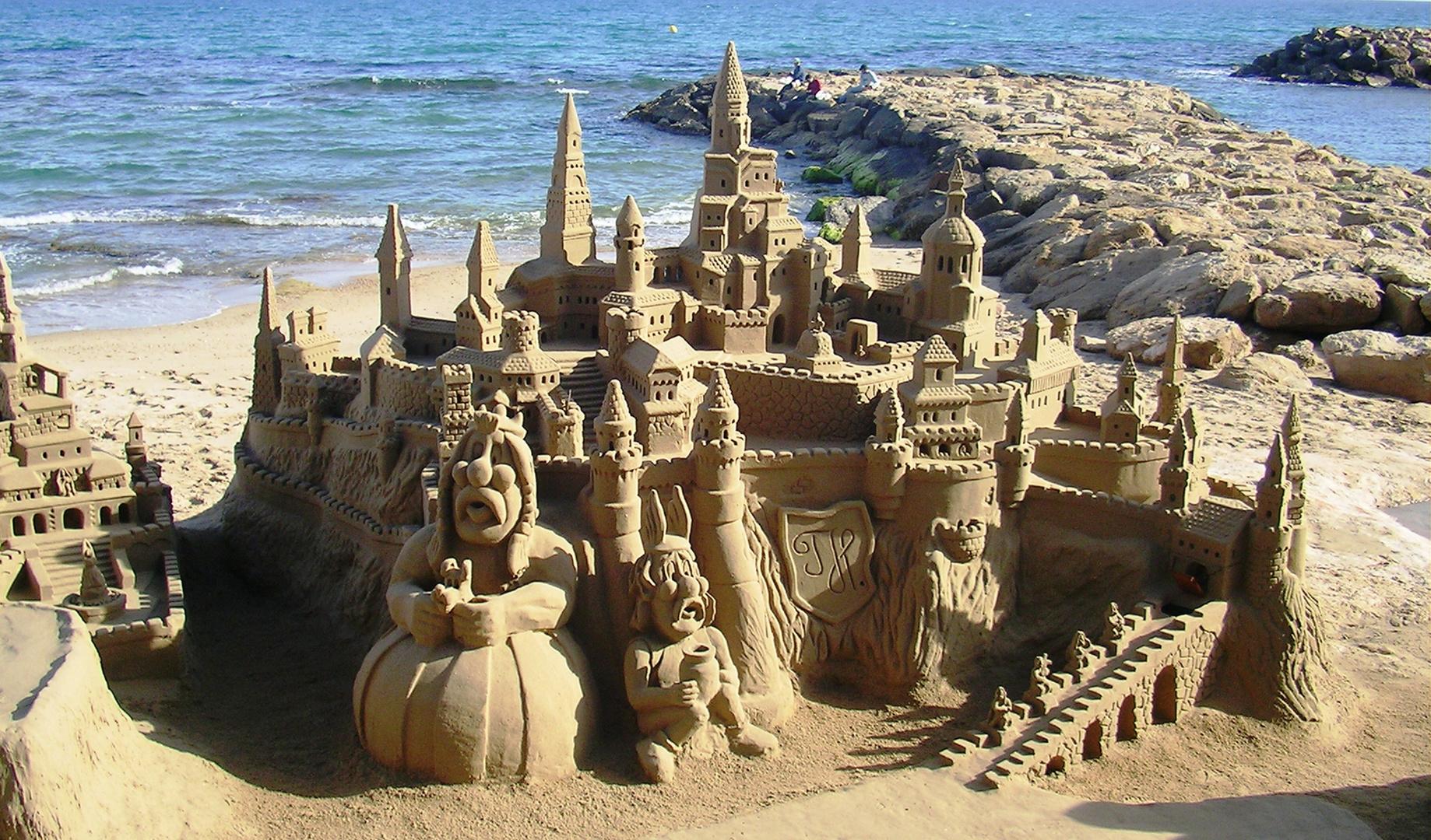 Asterix und Obelix am Strand...