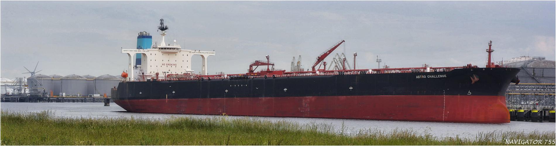 ASTRO CHALLENGE / Crude Oil Tanker / Callandkanal / Rotterdam / Bitte scrollen!