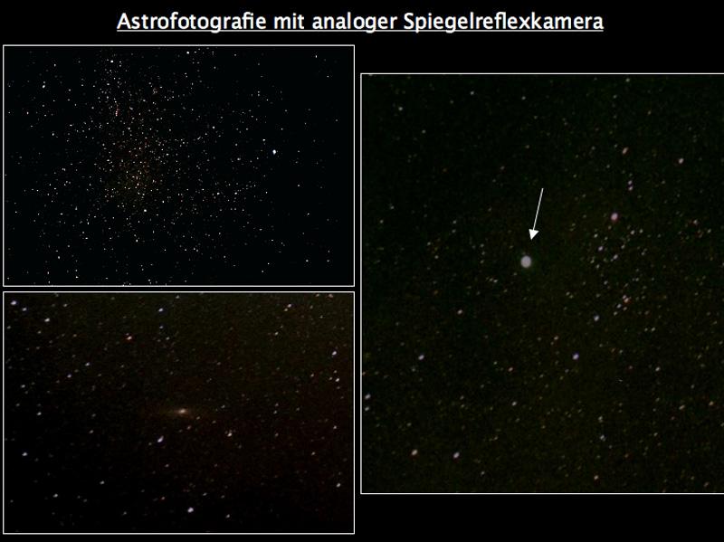 Astrofotografie mit analoger Spiegelreflexkamera