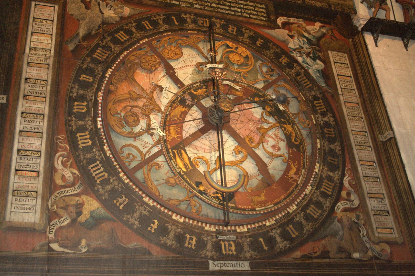 astronomische Uhr im Dom zu Münster / Westfalen