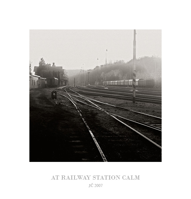 At railway station calm