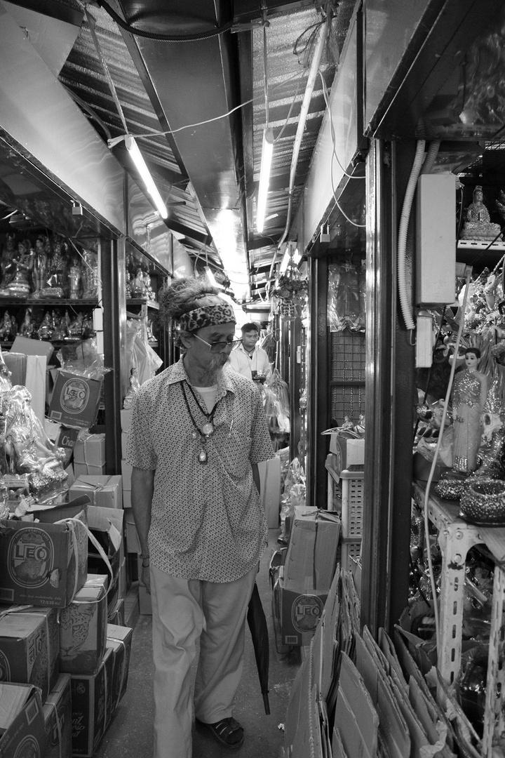 At the Amulet Market in Bangkok