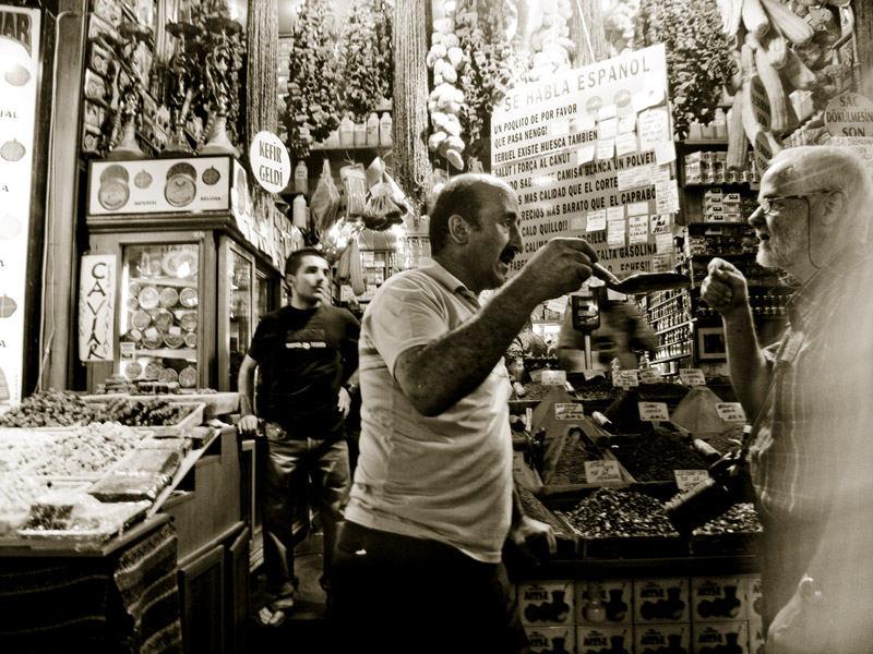 At the grand bazaar.