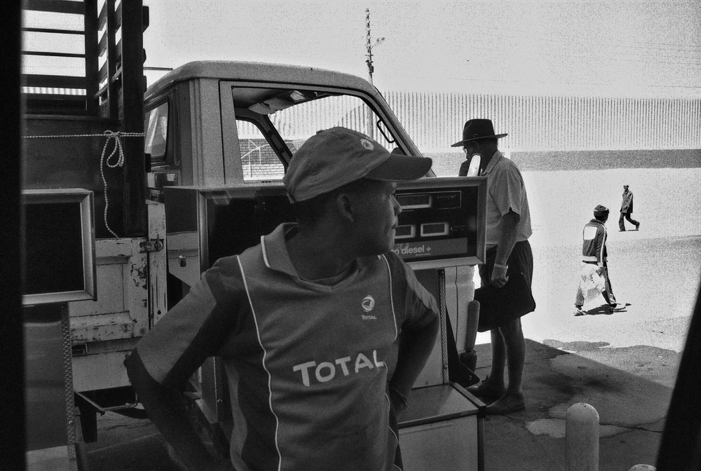 At the pumps in Aranos, Namibia