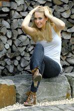 ~ at wood pile ~