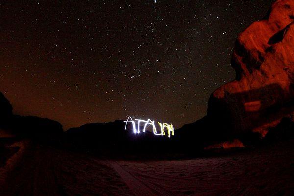 Atalah dans le Wadi-Rum