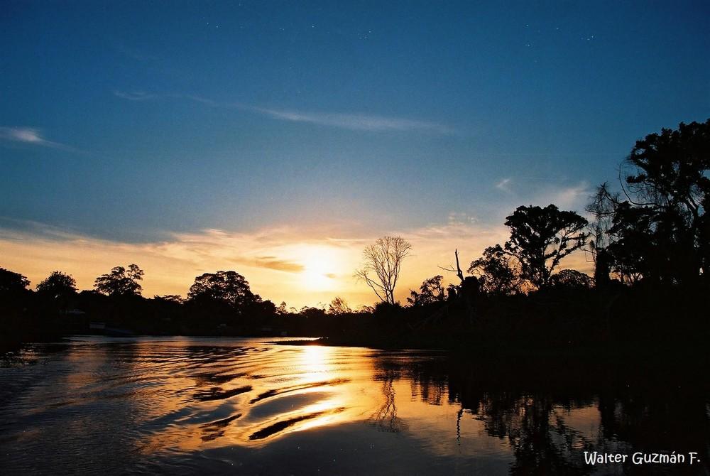 Atardecer amazónico