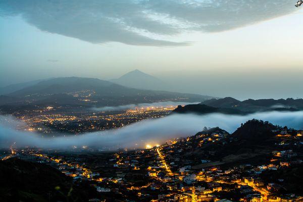 Atardecer desde el mirador de Jardina.La Laguna.Tenerife