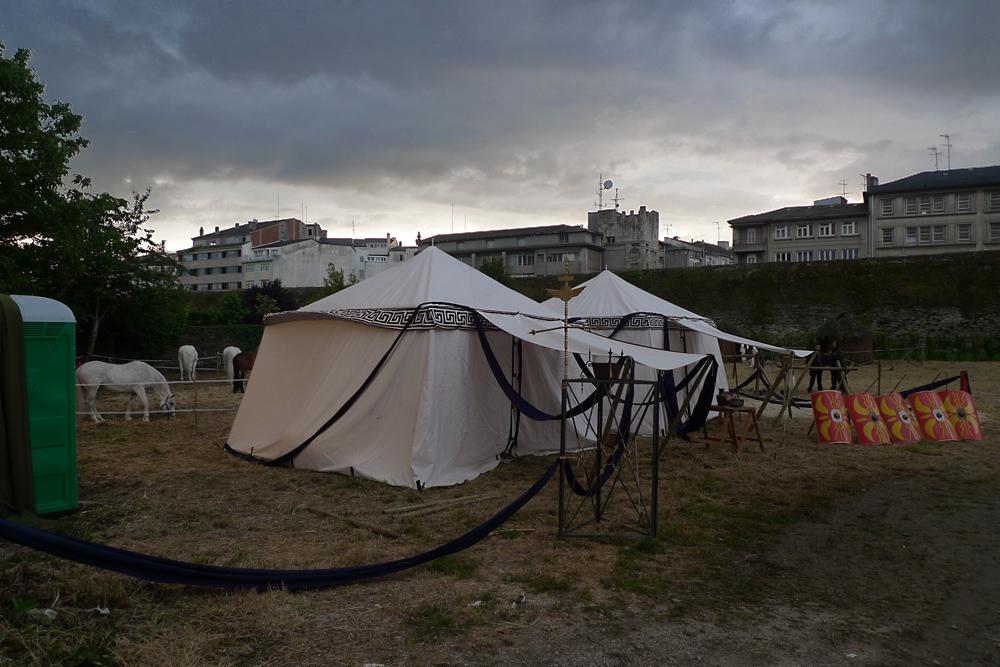 Atardecer en el campamento romano