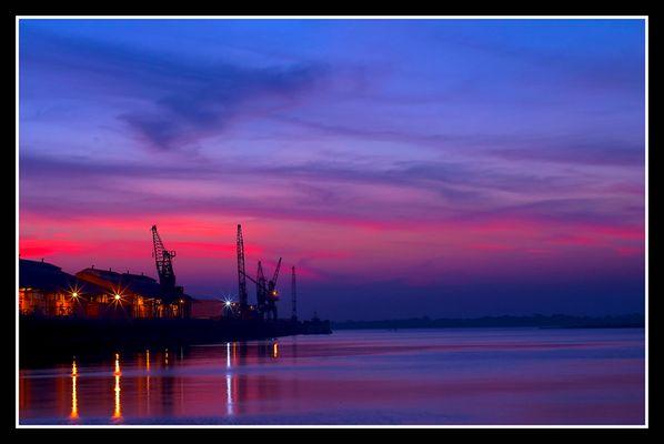Atardecer en el Puerto de Asunción