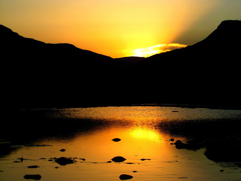 Atardecer en el rio Mizque