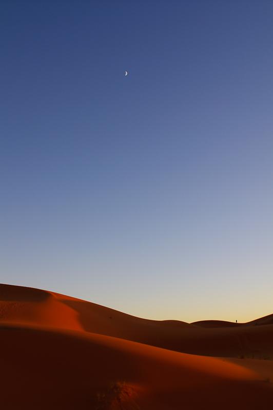 ATARDECER EN EL SAHARA