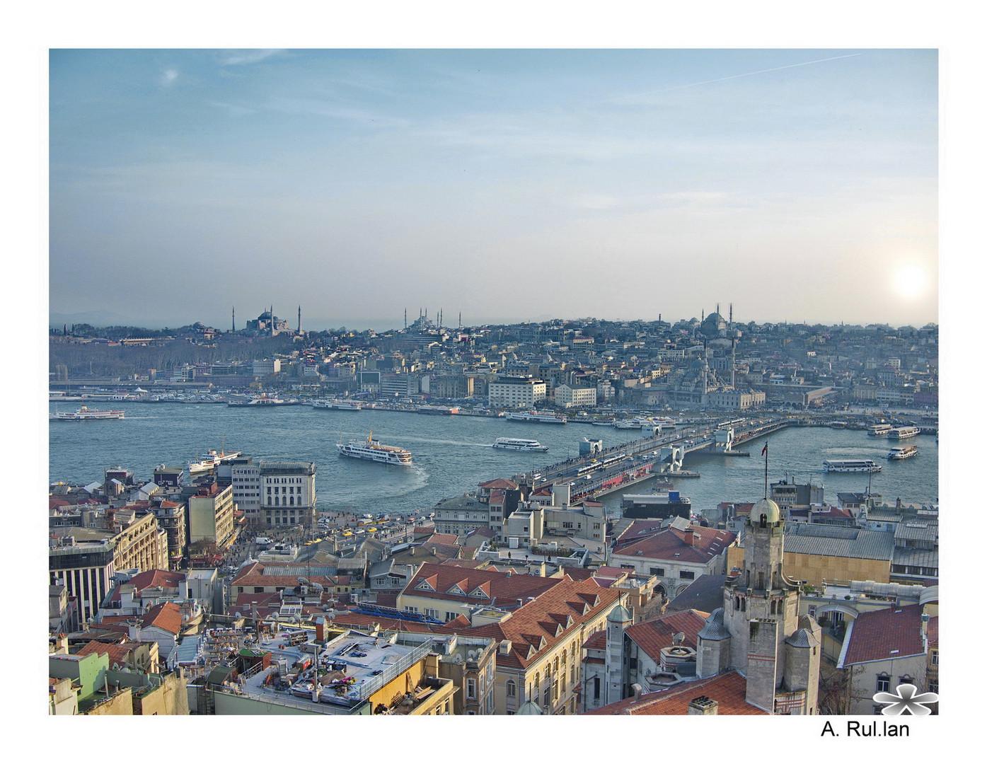 Atardecer en Istambul (desde la Torre Galata )